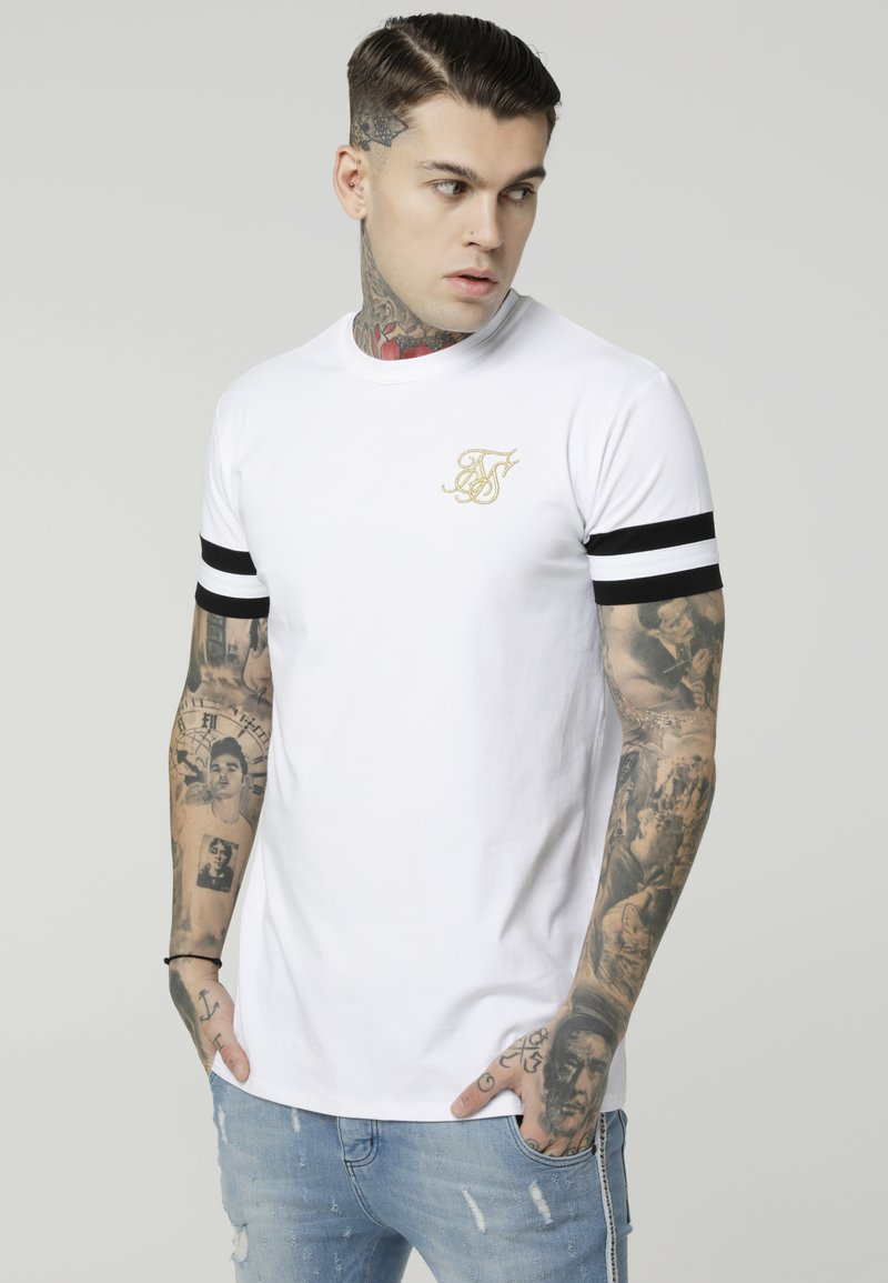 SIKSILK - COLLAR BOX TEE - T-shirt con stampa - white