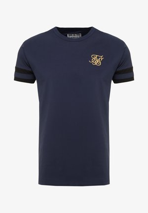 COLLAR BOX TEE - Print T-shirt - navy