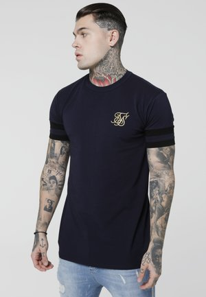 COLLAR BOX TEE - T-shirt print - navy