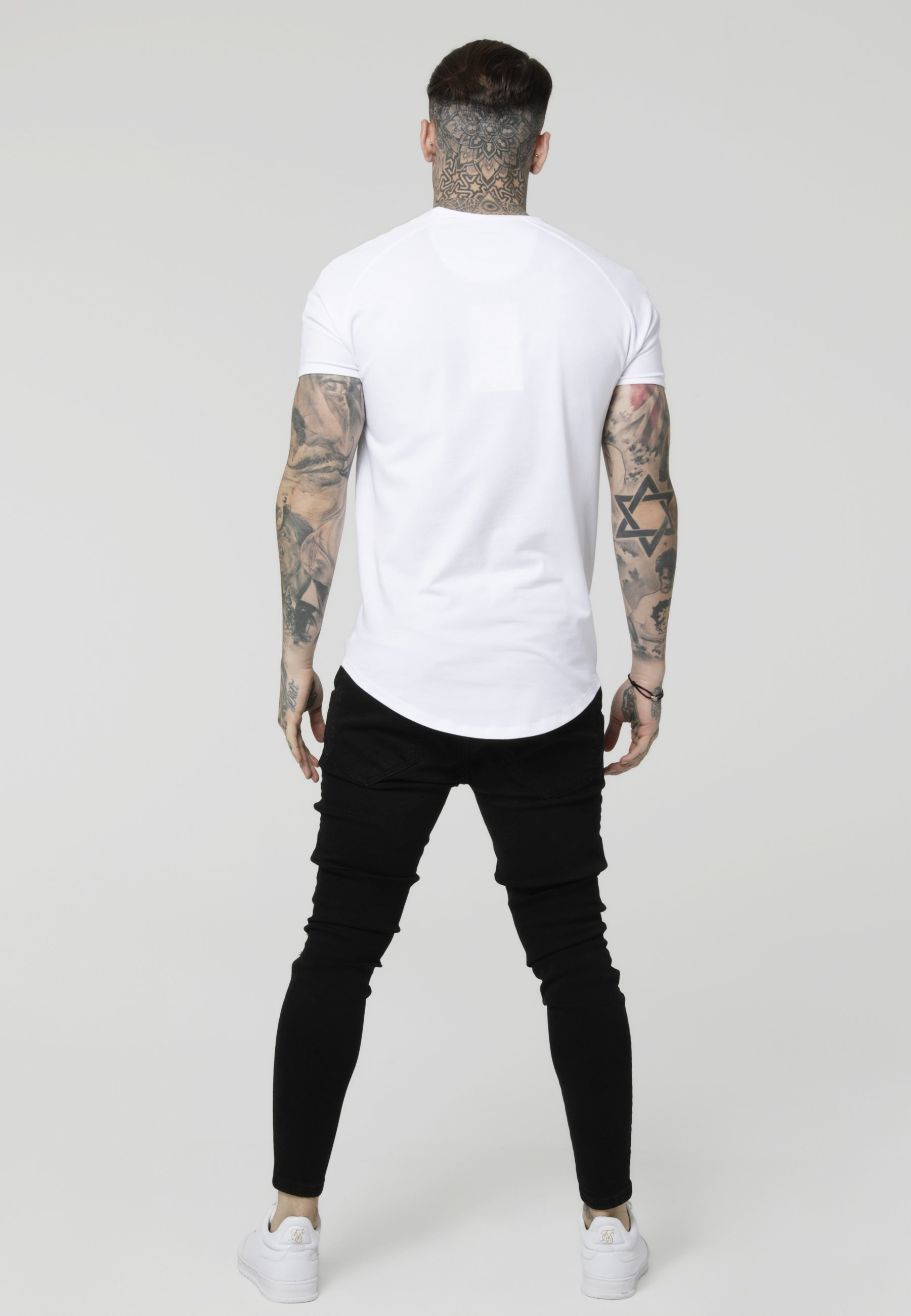 TeeT White Gym Imprimé shirt Siksilk silver Tape WE2D9YHI
