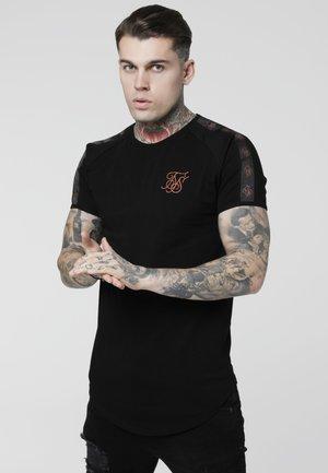 TAPE GYM TEE - T-shirts print - black/rose gold