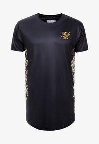 SIKSILK - CURVED HEM TEE - T-shirts med print - black/gold - 3