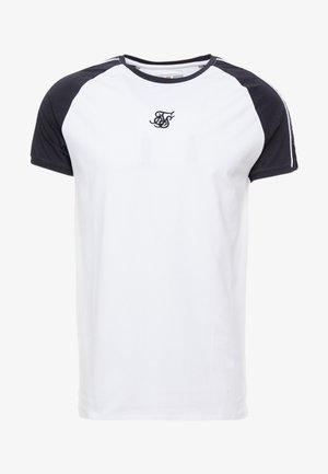 RAGLAN TAPE GYM TEE - T-shirt basic - black/white