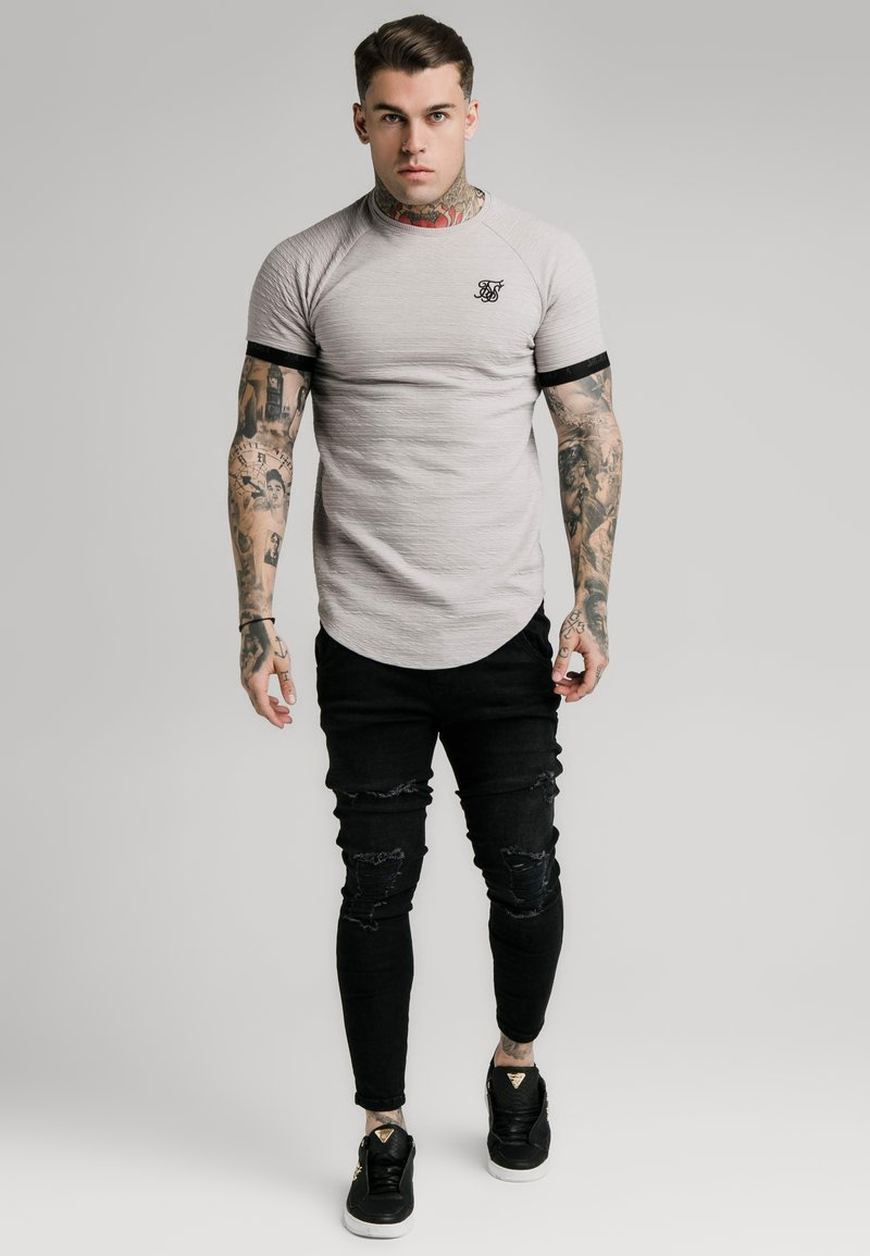 SIKSILK - RAGLAN TECH TEE - T-shirts print - grey