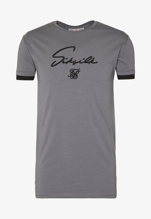TECH LOGO TEE - Print T-shirt - grey