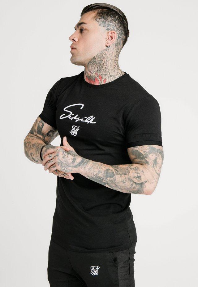 TECH LOGO TEE - Triko spotiskem - black