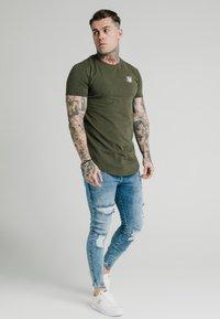 SIKSILK - NEPS TEE - T-shirt basique - khaki - 1