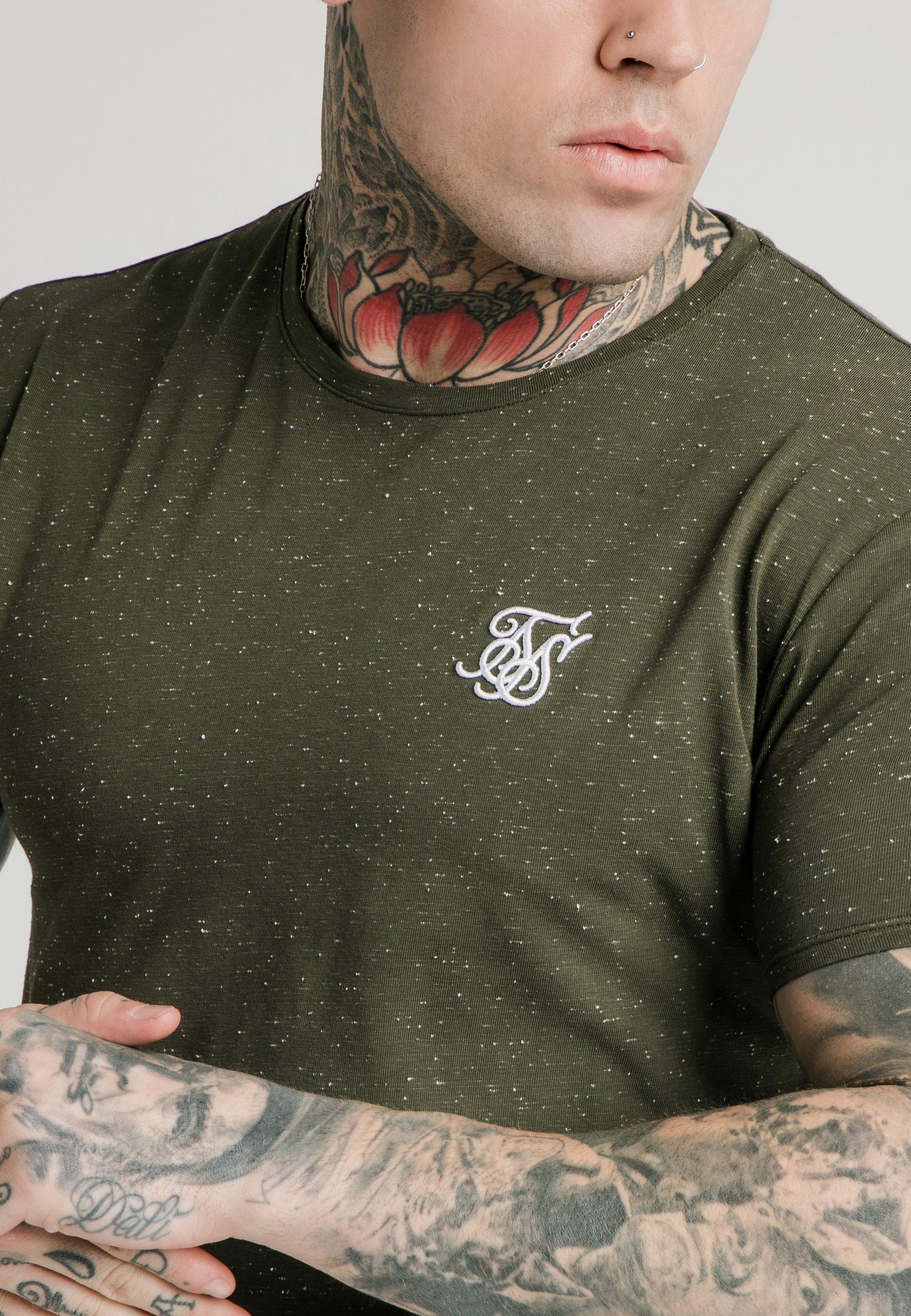 SIKSILK NEPS TEE - T-shirt basic - khaki