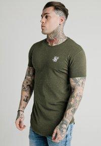 SIKSILK - NEPS TEE - T-shirt basique - khaki - 0
