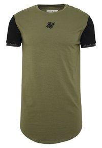 SIKSILK - SCOPE GYM TEE - T-shirt print - khaki/black - 0