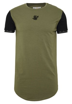 SCOPE GYM TEE - T-shirt med print - khaki/black