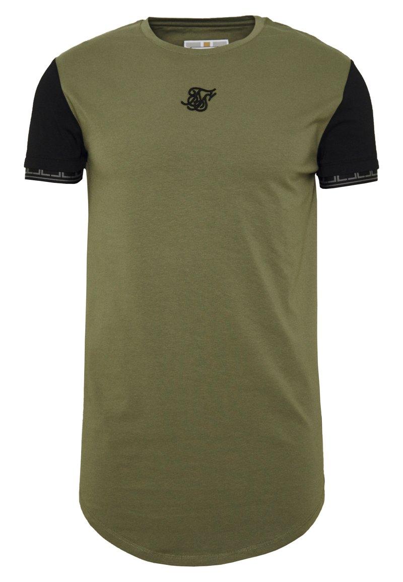 SIKSILK - SCOPE GYM TEE - T-shirt print - khaki/black