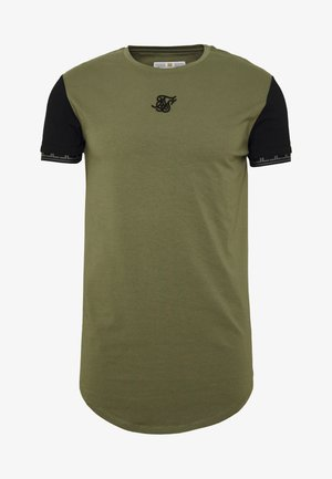 SCOPE GYM TEE - T-shirt imprimé - khaki/black