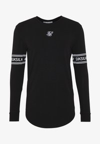 SIKSILK - LONG SLEEVEBRANDED GYM TEE - Longsleeve - black - 3