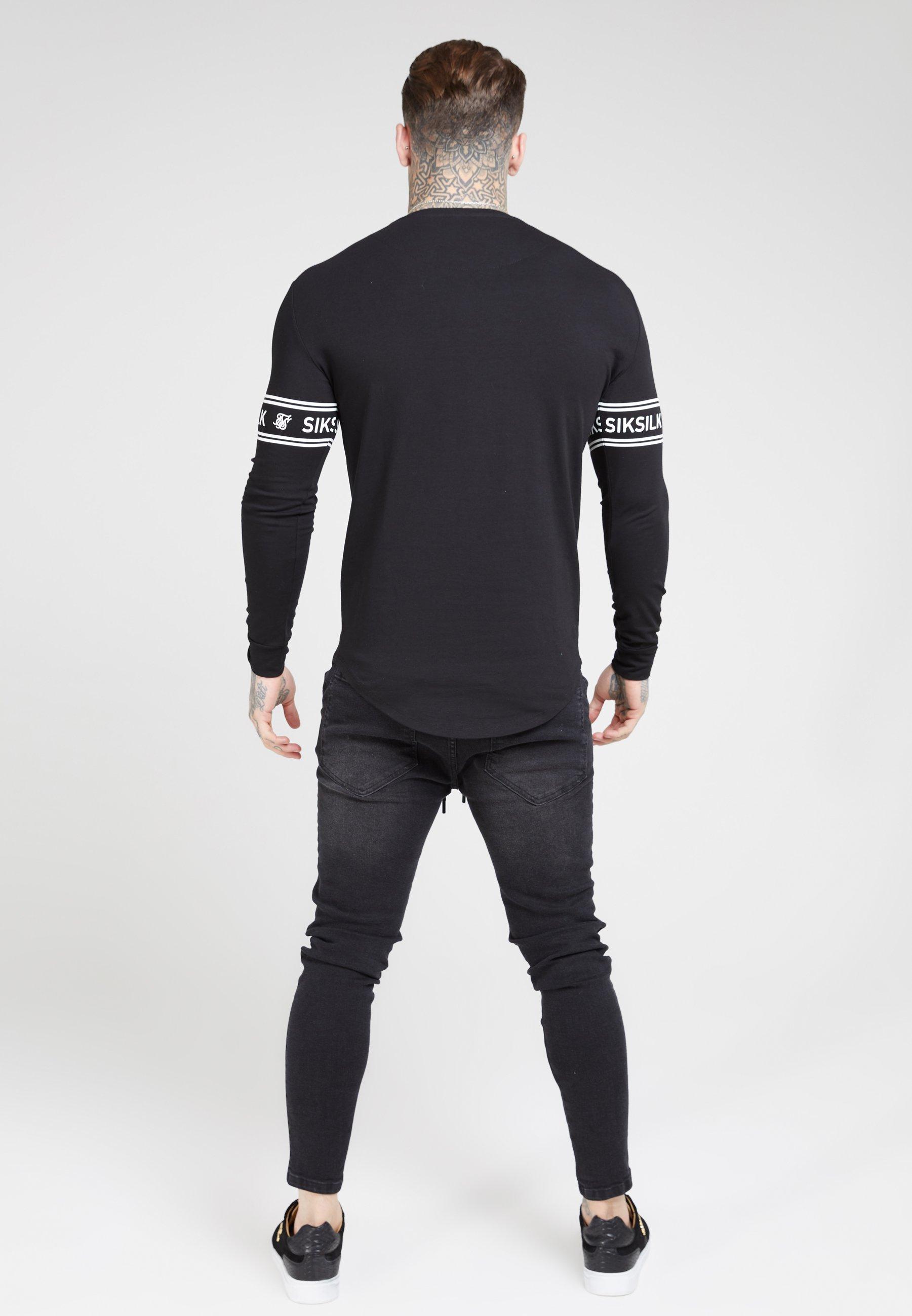 SIKSILK LONG SLEEVEBRANDED GYM TEE - Bluzka z długim rękawem - black