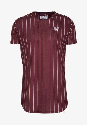 PINSTRIPE TEE - T-shirt imprimé - burgundy