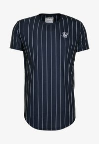 SIKSILK - PINSTRIPE TEE - T-shirt imprimé - navy - 3