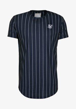 PINSTRIPE TEE - T-shirt con stampa - navy