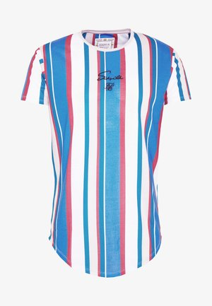 STRIPE TEE - Camiseta estampada - blue/red/ecru