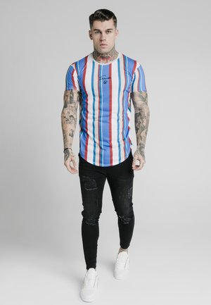 STRIPE TEE - T-shirt con stampa - blue/red/ecru