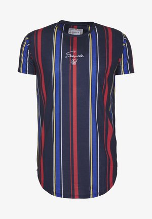 STRIPE TEE - T-shirt imprimé - navy/red/yellow