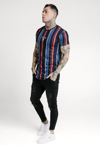 SIKSILK - STRIPE TEE - T-shirt con stampa - navy/red/yellow - 1