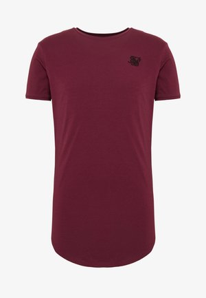 SHORT SLEEVE GYM TEE - T-shirt - bas - burgundy