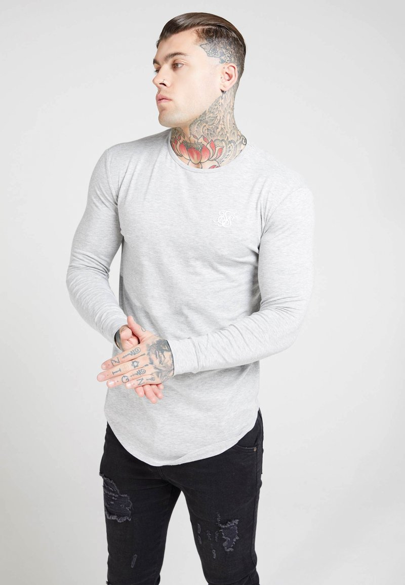 SIKSILK - GYM TEE - T-shirt à manches longues - grey marl