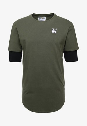 INSET SLEEVE GYM TEE - T-shirt imprimé - khaki/black
