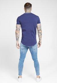 SIKSILK - RIB GYM TEE - T-shirt imprimé - navy - 2