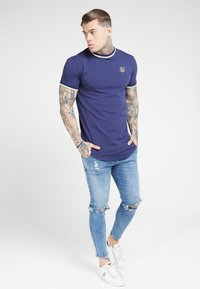 SIKSILK - RIB GYM TEE - T-shirt imprimé - navy - 1