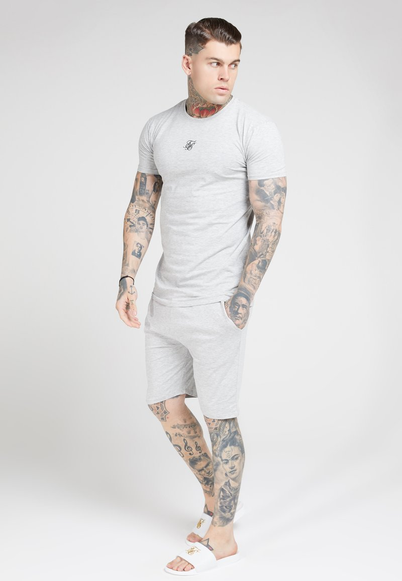SIKSILK - SIKSILK 2 PACK TEE - T-shirt con stampa - black/grey marl