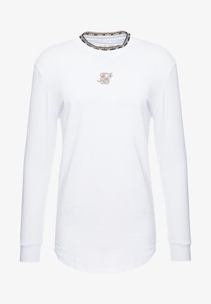 LONG SLEEVE CHAIN TAPE COLLAR GYM TEE - Camiseta de manga larga - white