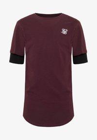 SIKSILK - INSET SLEEVE GYM TEE - T-shirt basic - black/red - 3