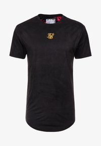 SIKSILK - ROLL SLEEVE TEE - T-shirt con stampa - black & oil paint - 3