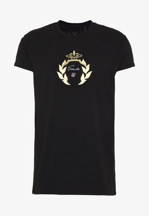 DANI ALVES EMBOSSED FITTED BOX TEE - Triko s potiskem - black