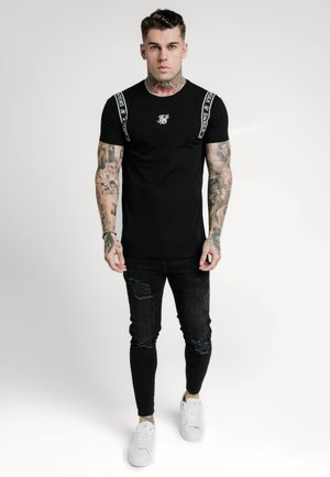 STRAIGHT HEM PRINTED GYM TEE - T-shirt imprimé - black/white