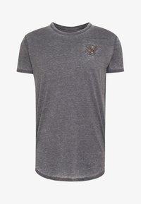 SIKSILK - BURNOUT ROLL SLEEVE TEE - T-shirt basique - grey - 3