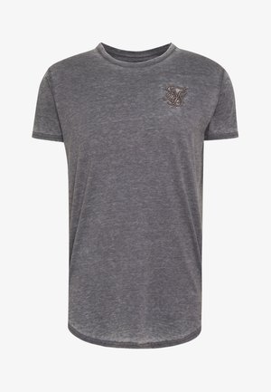 BURNOUT ROLL SLEEVE TEE - T-shirt basique - grey