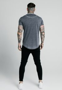 SIKSILK - BURNOUT ROLL SLEEVE TEE - T-shirt basique - grey - 2