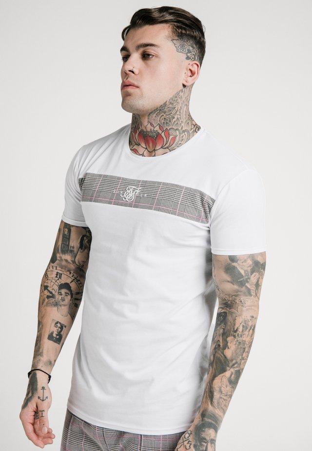 PANEL SMART TEE - Print T-shirt - white