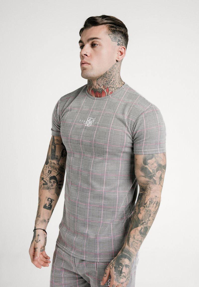SIKSILK - SMART GYM TEE - T-shirt con stampa - grey/pink