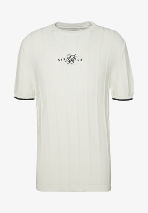 FITTED TEE - T-shirt con stampa - off white