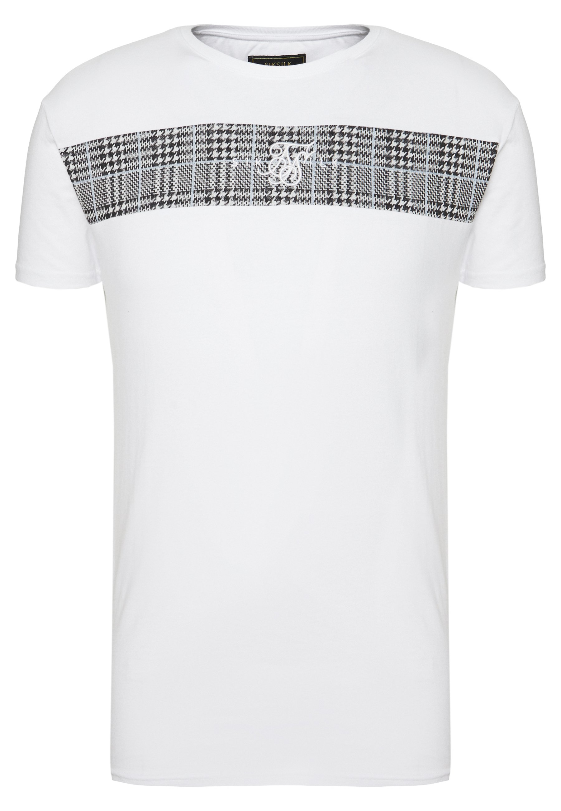 Siksilk Panel Smart Tee - T-shirt Con Stampa White Dnh0A74