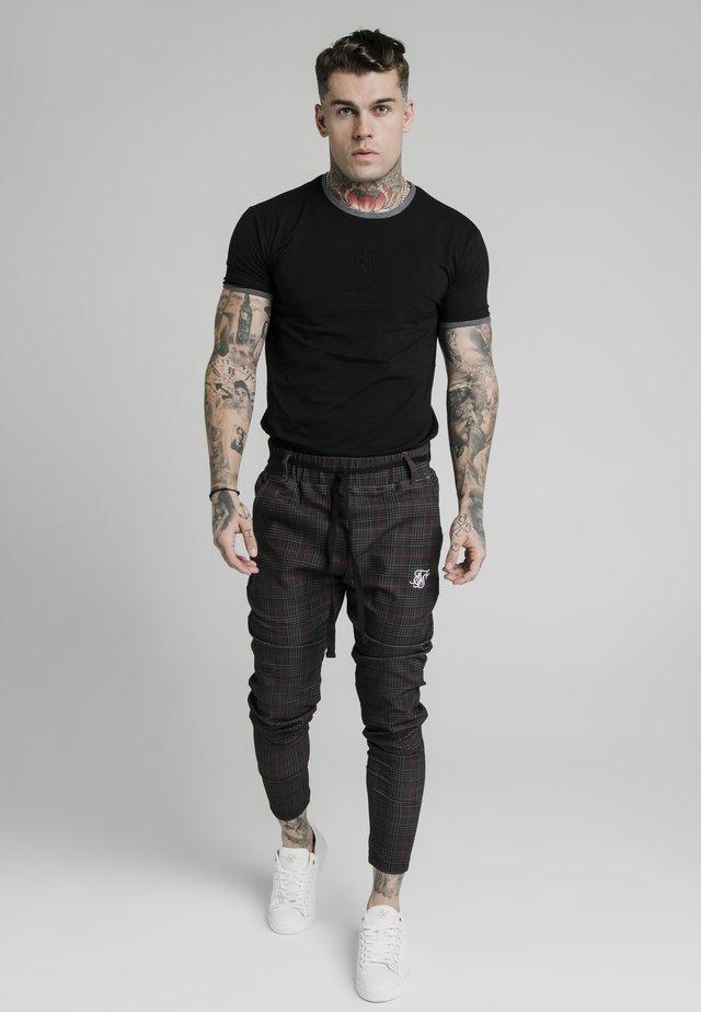 RINGER GYM TEE - Basic T-shirt - black