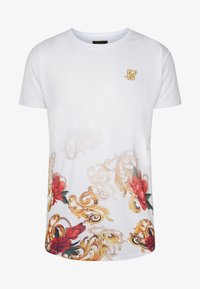 SIKSILK - CURVED HEM FADE TEE - T-shirt con stampa - white - 3