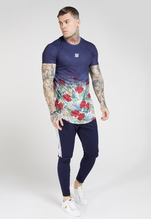 CURVED HEM FADE TEE - T-shirt con stampa - navy