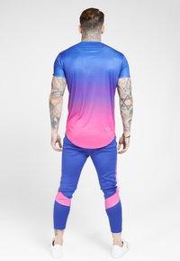SIKSILK - MARL FADE PANEL TECH TEE - T-shirt print - neon blue - 2
