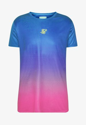 MARL FADE PANEL TECH TEE - T-shirt print - neon blue