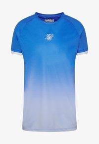 SIKSILK - RAGLAN FADE STRAIGHT HEM TEE - T-shirt print - blue/ice grey - 3